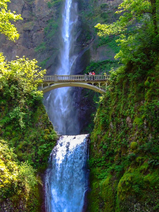 Oregon Photograph - Multnomah Falls by Marc Crumpler