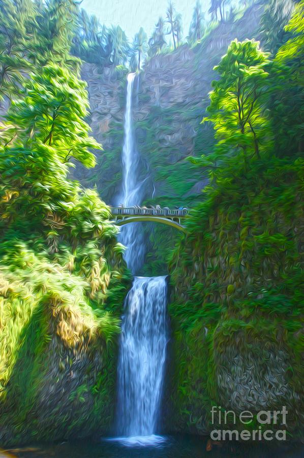 Landscape Photograph - Multnomah Falls by Nur Roy