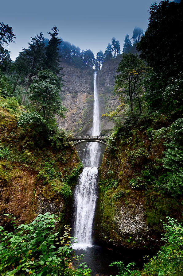 Oregon Photograph - Multnomah Falls Oregon State Waterfall by Puget  Exposure