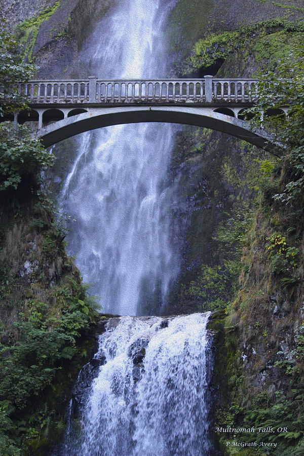 Multnomah Falls Photograph - Multnomah Falls by Pat McGrath Avery