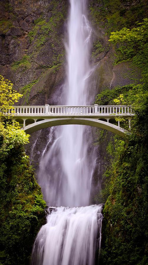 Multnomah Falls Silk Photograph