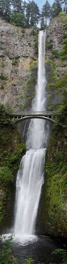 Big Photograph - Multnomah Falls Vertical Panorama II by Loree Johnson