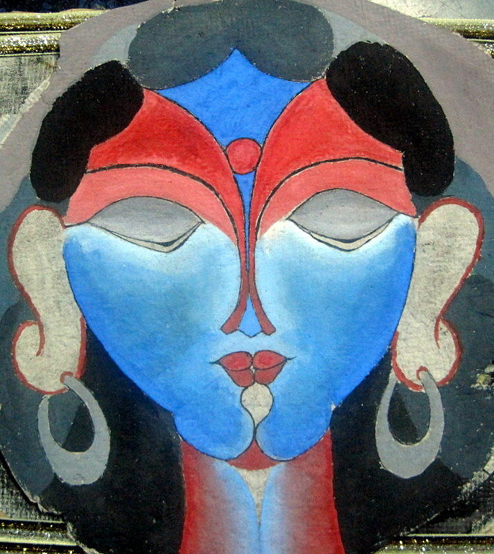 Poster Color Painting - Multy Faced Moern Art by Ram Prasad