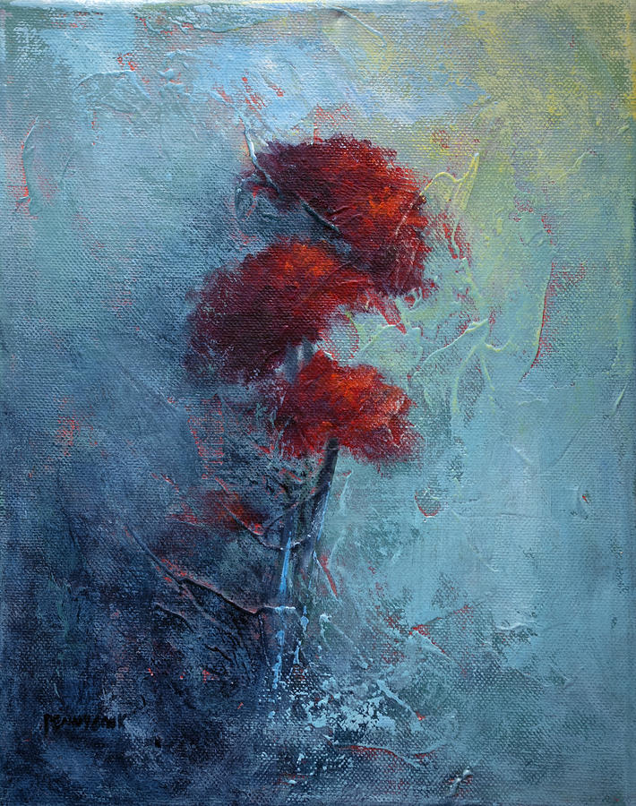 Texture Painting - Mums by Bob Pennycook