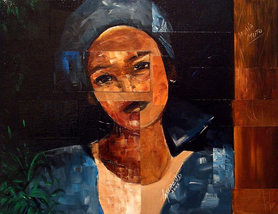 African Painting - Muna Muto by Laurend Doumba