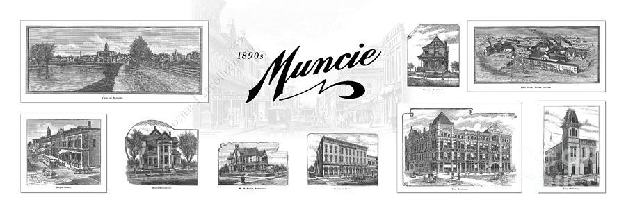 Banks Mixed Media - Muncie Indiana B by Thomas Keesling