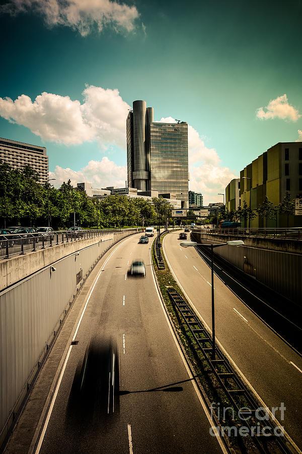 Architecture Photograph - Munich Traffic by Hannes Cmarits