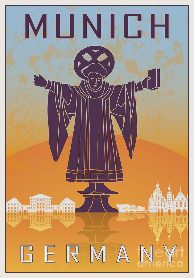 Munich Vintage Poster Digital Art