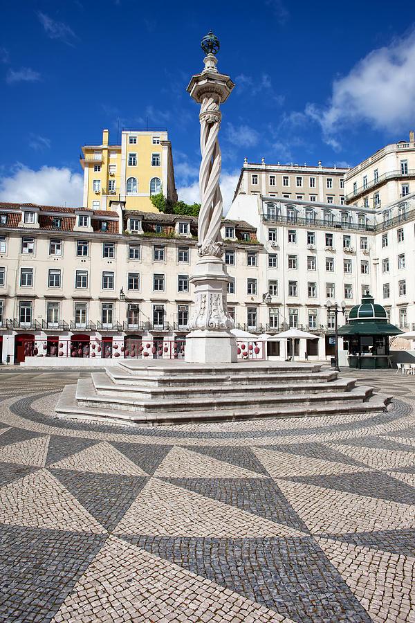 Municipal Photograph - Municipal Square In Lisbon by Artur Bogacki