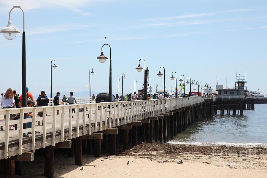 California Photograph - Municipal Wharf At The Santa Cruz Beach Boardwalk California 5d23773 by Wingsdomain Art and Photography