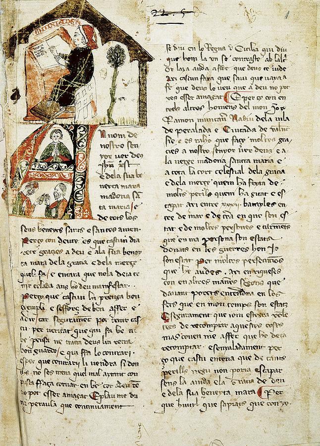 Vertical Photograph - Muntaner, Ramón 1265-1336. Catalan by Everett