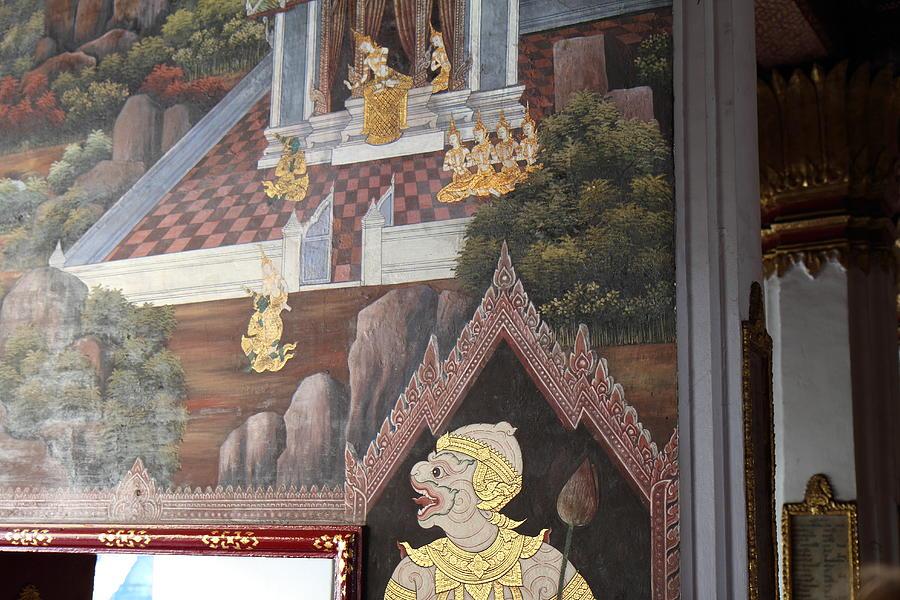 Bangkok Photograph - Mural - Grand Palace In Bangkok Thailand - 01133 by DC Photographer