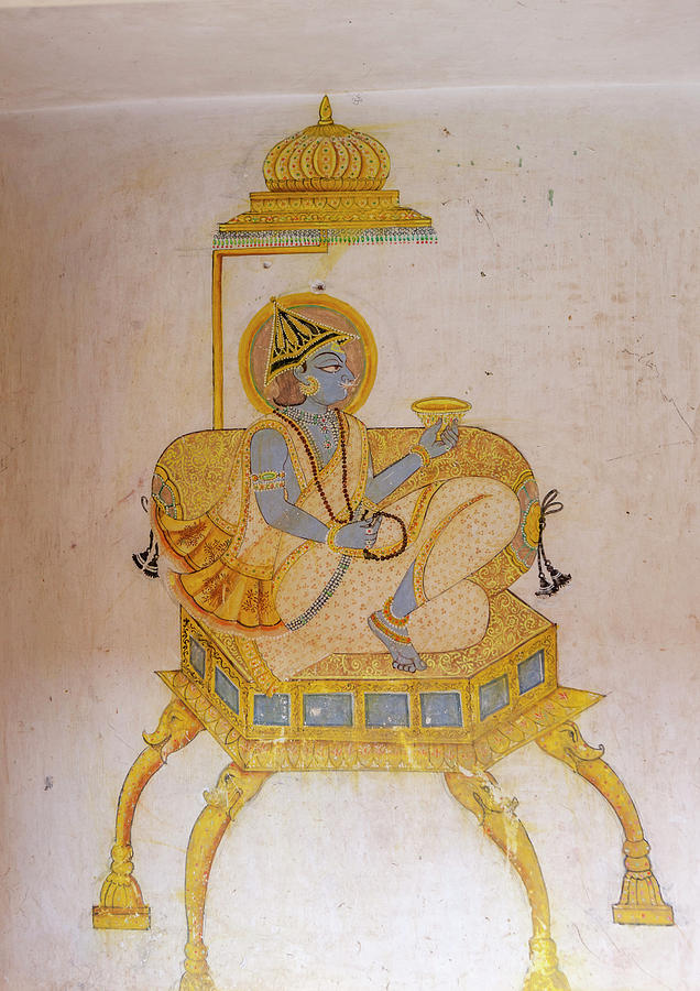 10th Century Photograph - Mural Mehrangarh Fort 10th Century by Tom Norring