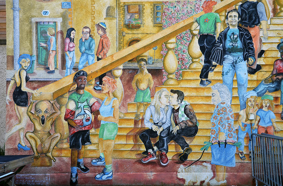 Mural Photograph - Mural Painting In Poitiers by RicardMN Photography