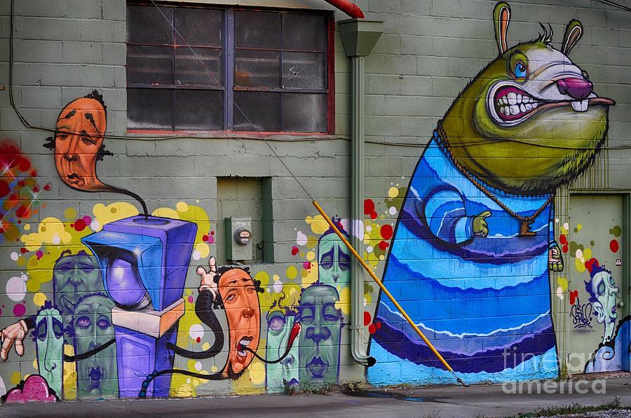 Graffiti Photograph - Mural - Wall Art by Liane Wright