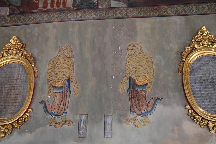 Bangkok Photograph - Mural - Wat Pho - Bangkok Thailand - 01132 by DC Photographer