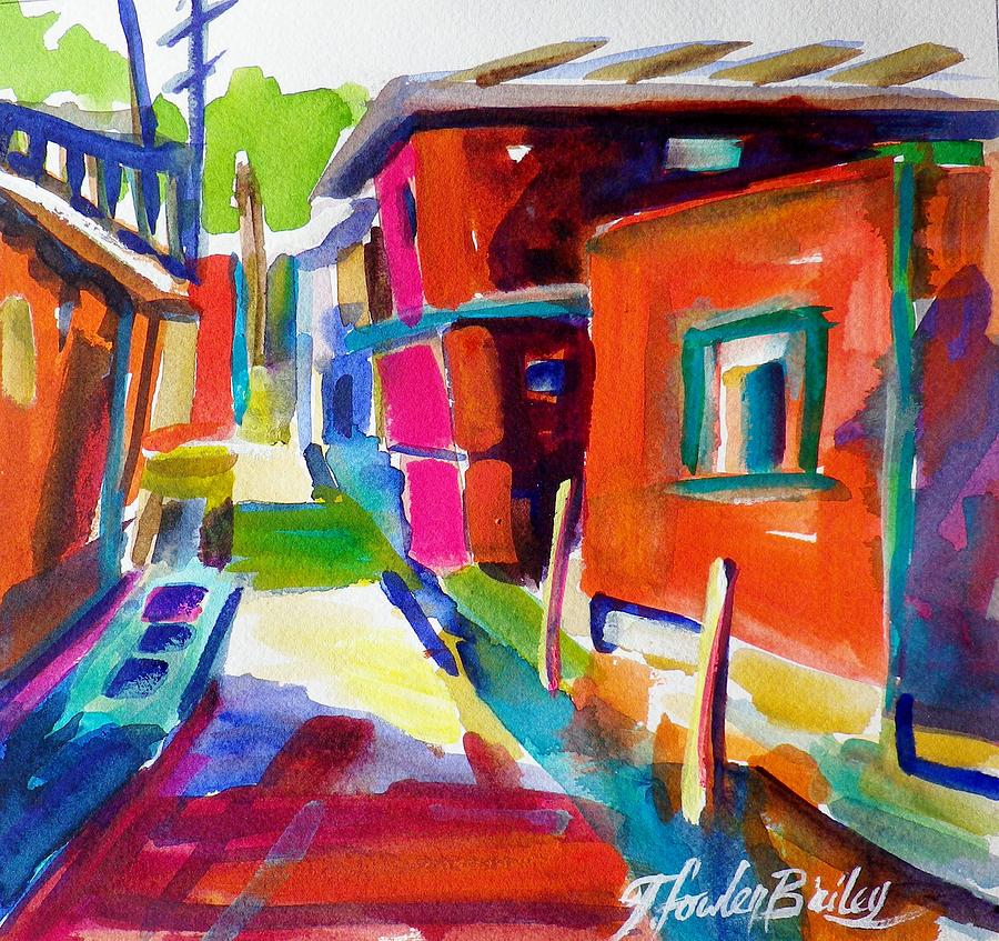 Murano Italy Painting - Murano Back Street Italy by Therese Fowler-Bailey