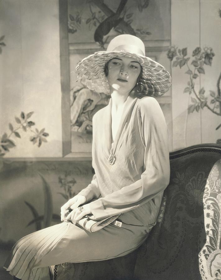 Muriel Finley Wearing A Dress By Lanvin Photograph by Edward Steichen