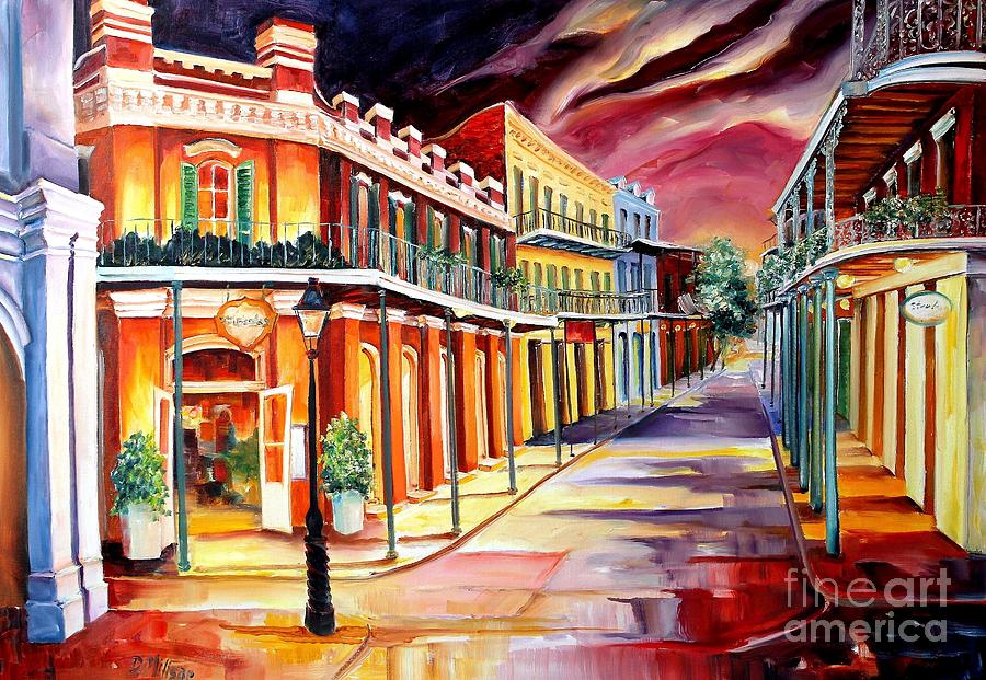 New Orleans Painting - Muriels in the French Quarter by Diane Millsap