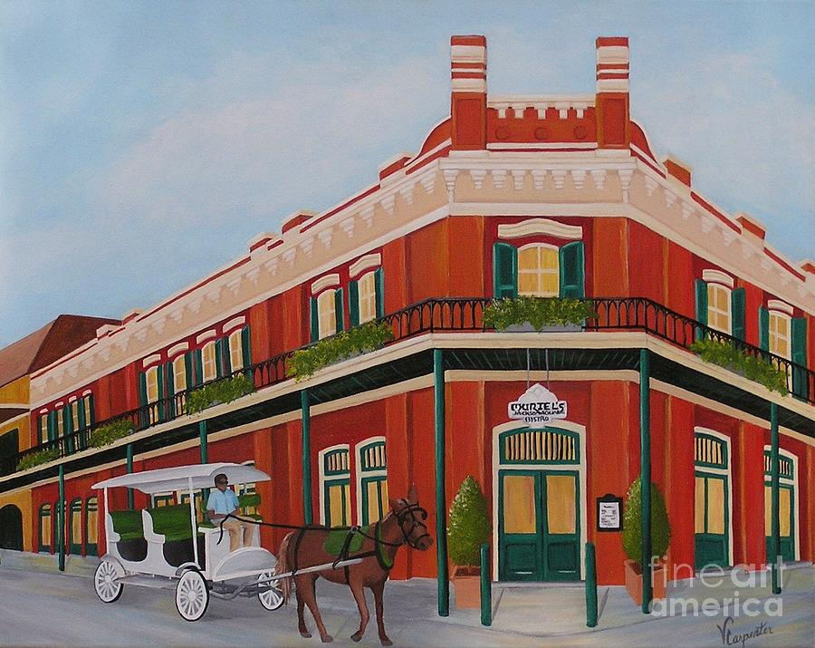 French Quarter Painting - Muriels by Valerie Carpenter