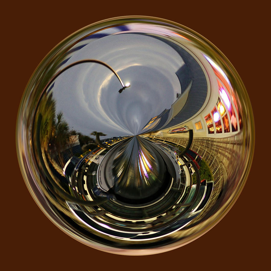 Orb Photograph - Murrells Inlet Orb by Paulette Thomas
