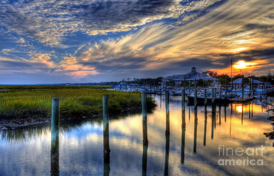 Murrells Inlet Photograph - Murrells Inlet Sunset 1 by Mel Steinhauer