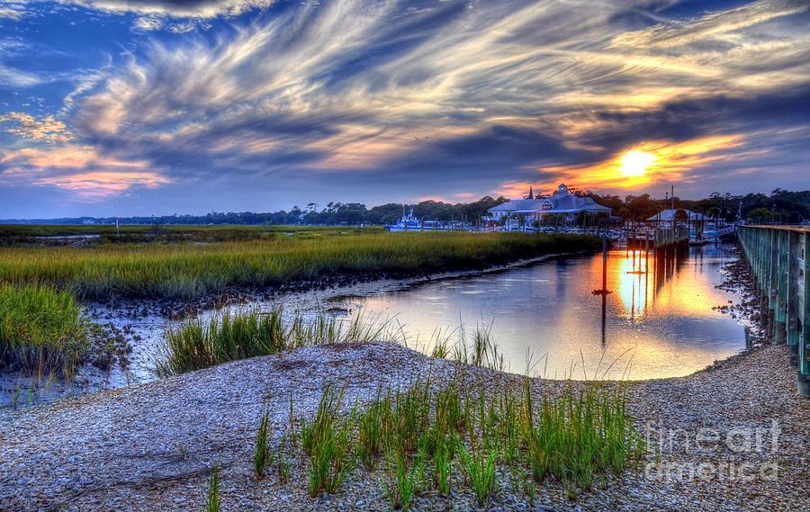 Murrells Inlet Photograph - Murrells Inlet Sunset 4 by Mel Steinhauer