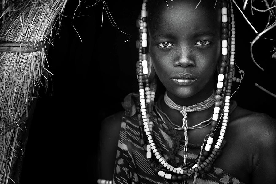 Documentary Photograph - Mursi Girl by Hesham Alhumaid