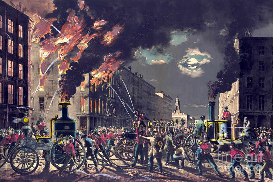 Firemen Photograph - Muscle And Steam 1861 by Padre Art