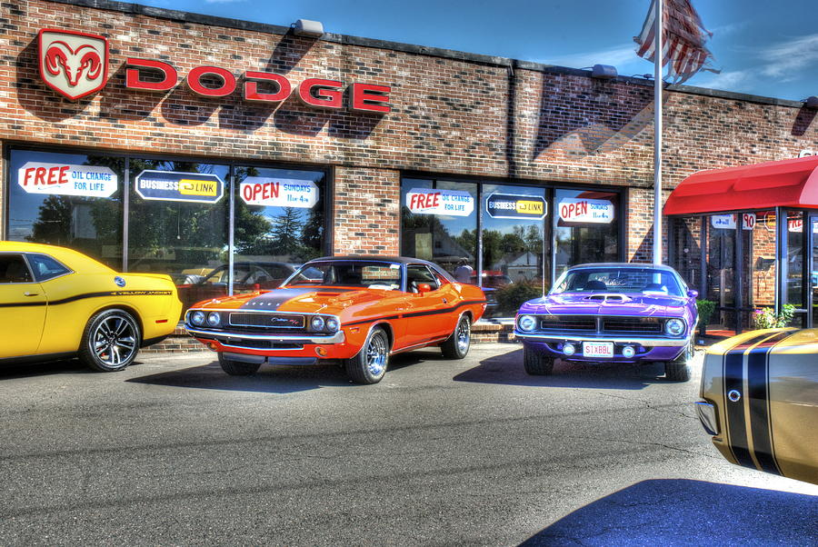 Muscle Car Dealership Photograph By Ryan Doray