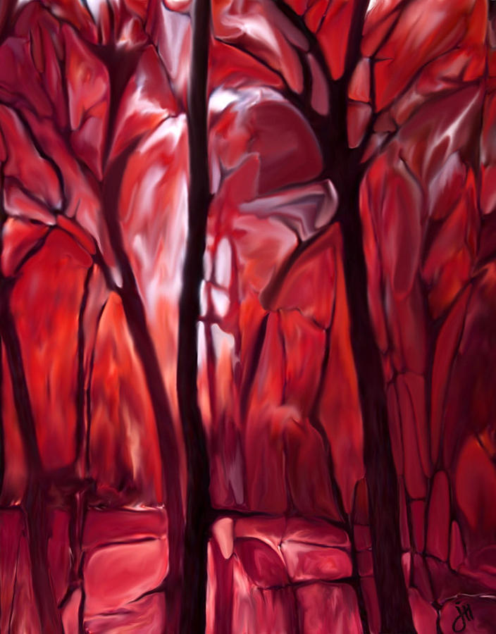 Trees Painting - Muscle Tissue Study by Jonathon Hetts