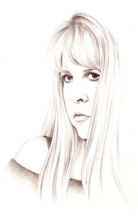 Stevie Nicks Drawing - Muse by Johanna Pieterman