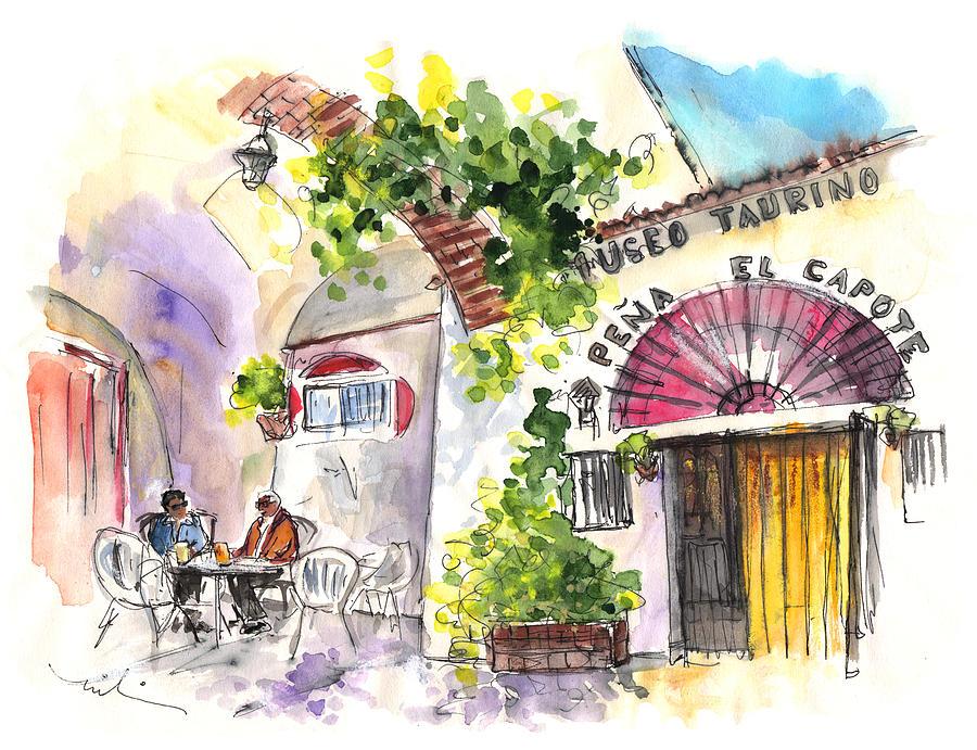 Travel Painting - Museo Taurino De Alcazar De San Juan by Miki De Goodaboom