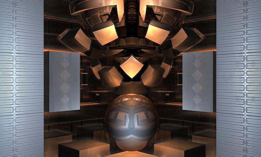 3d Fractals Digital Art - Museum Display 2 by Ricky Jarnagin