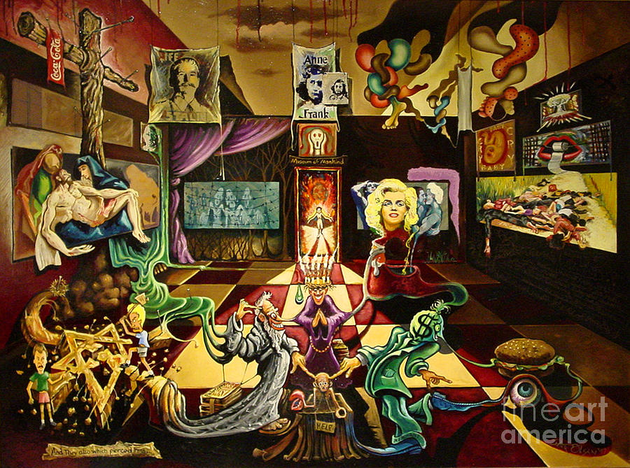 Revelation 1:7 Painting - Museum Of Mankind by Peter Olsen