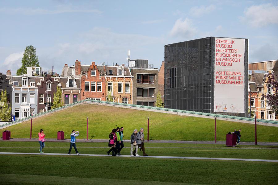 Amsterdam Photograph - Museumplein Lawn In Amsterdam by Artur Bogacki