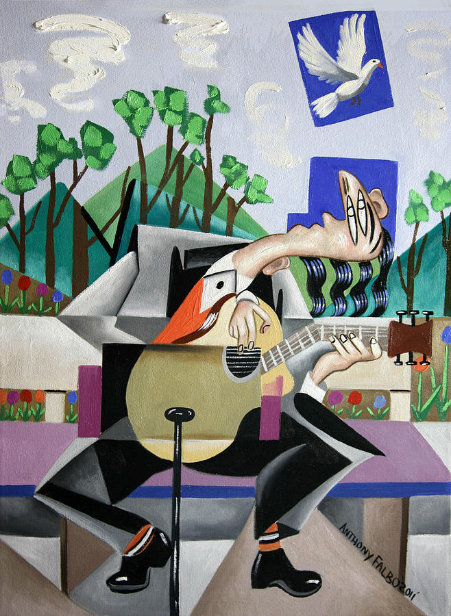 Music Painting - Music A Gift From The Holy Spirit by Anthony Falbo