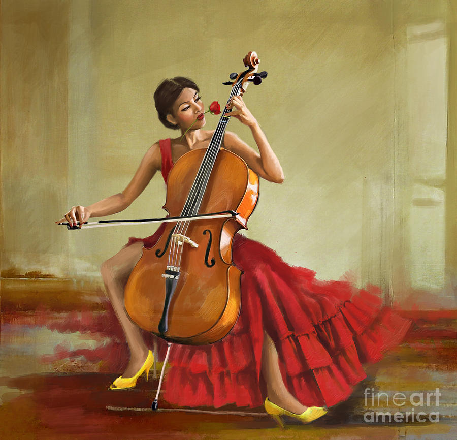 Music And Beauty Painting by Corporate Art Task Force