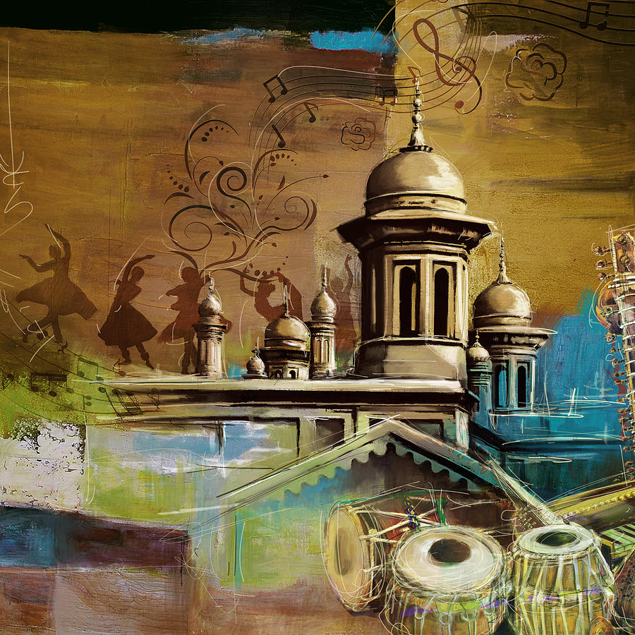 Pakistan Painting - Music And Culture by Catf