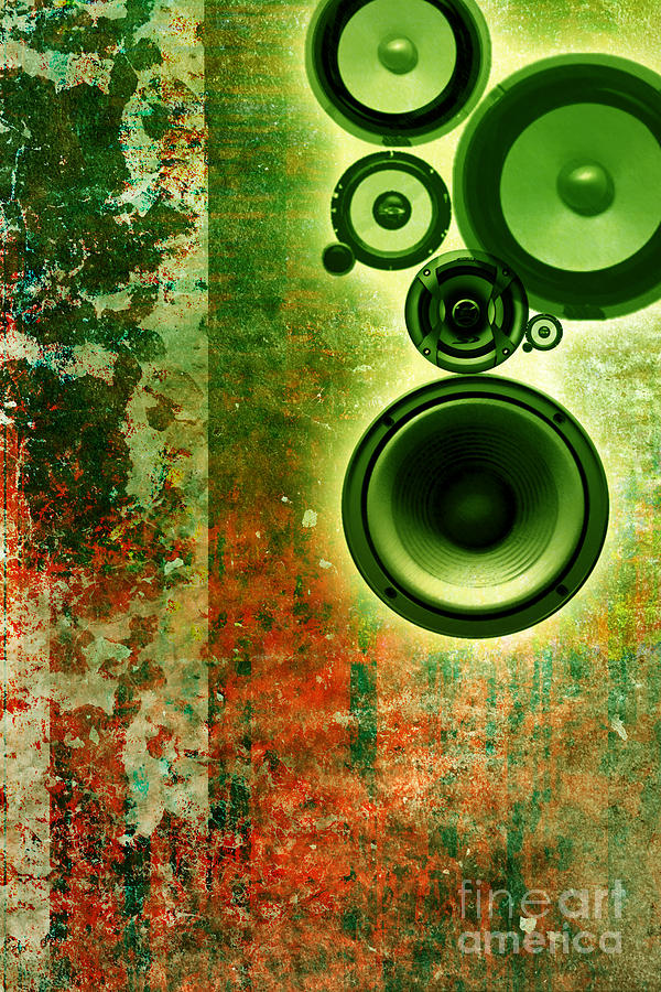 Music Digital Art - Music Background by Christophe ROLLAND