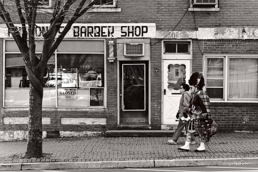 Barber Photograph - Music - Bag Piper - Somerville Nj -  The Scottsman by Mike Savad