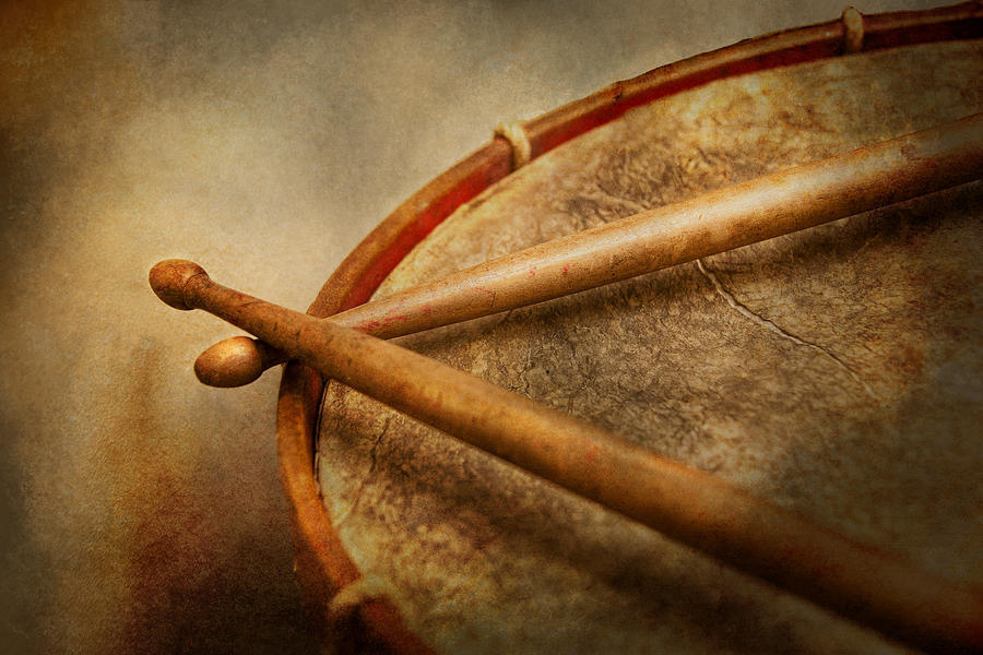 Hdr Photograph - Music - Drum - Cadence  by Mike Savad