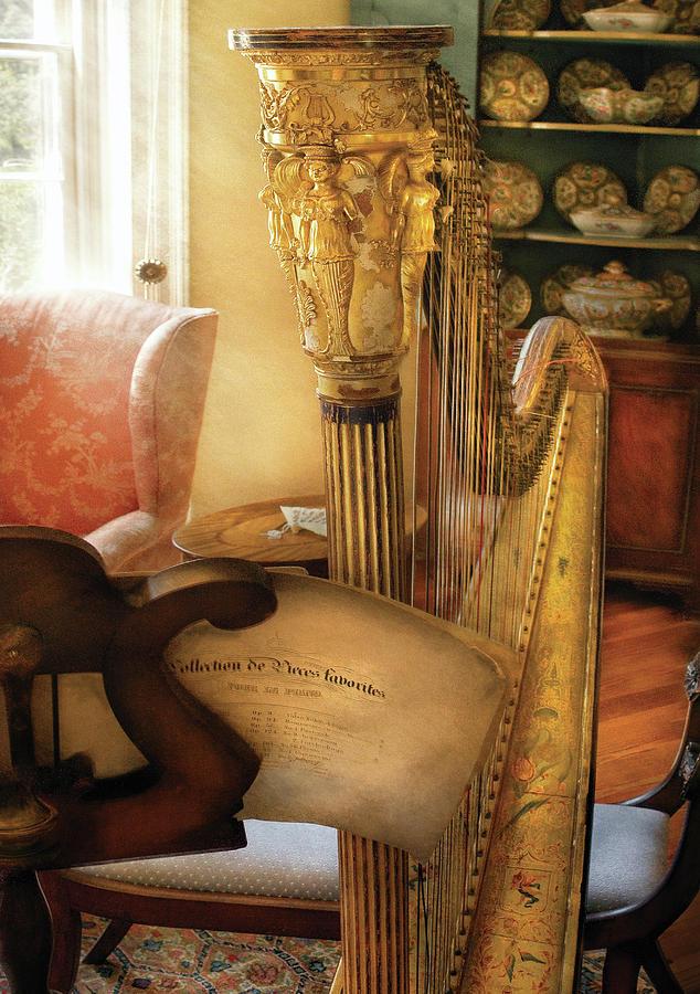 Savad Photograph - Music - Harp - The Harp by Mike Savad