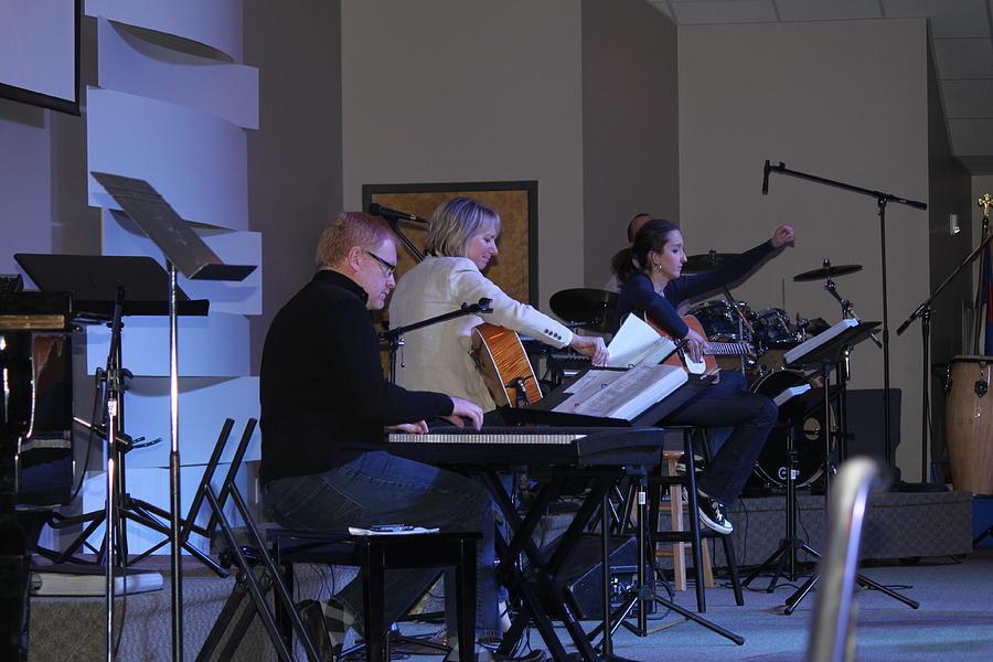 Keyboard Photograph - Music In Church by Carolyn Ricks