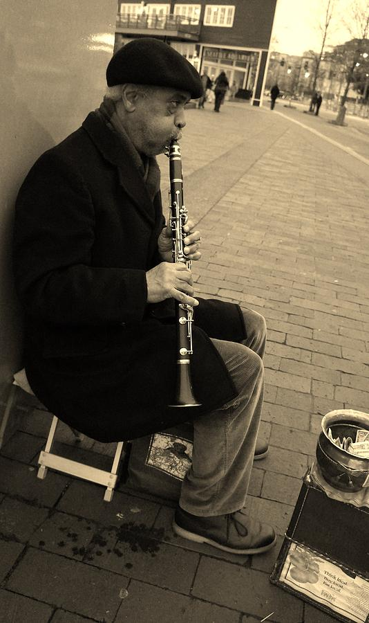Music Photograph - Music Man by Andrea Osborn
