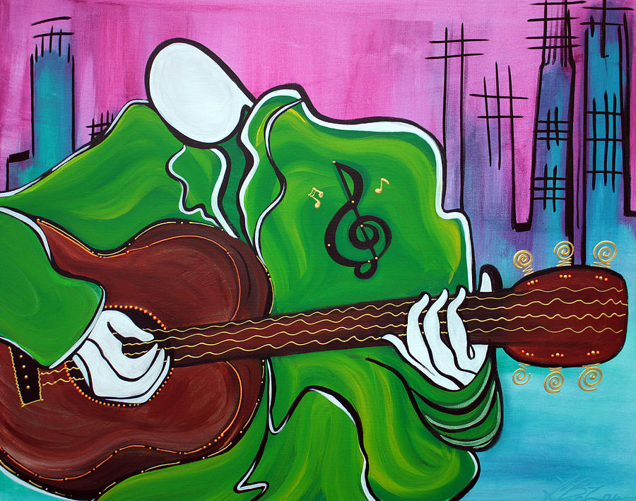 Abstract Painting - Music Man by Laura Barbosa