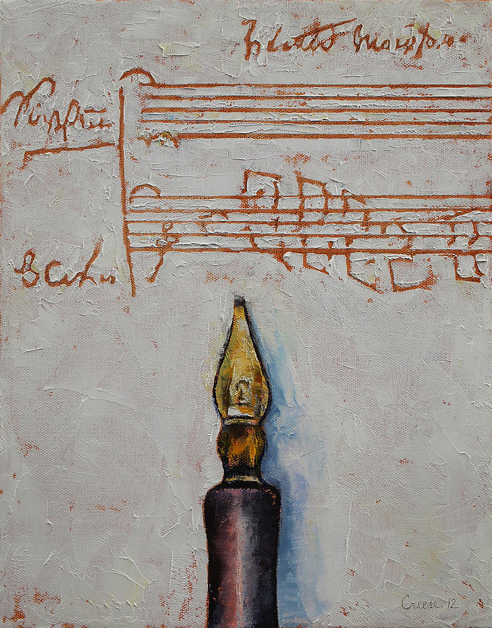 Calligraphy Painting - Music by Michael Creese