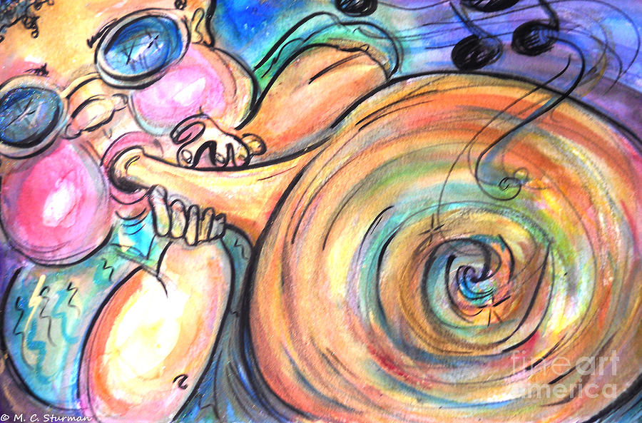 Music Painting - Music Music Music by M C Sturman