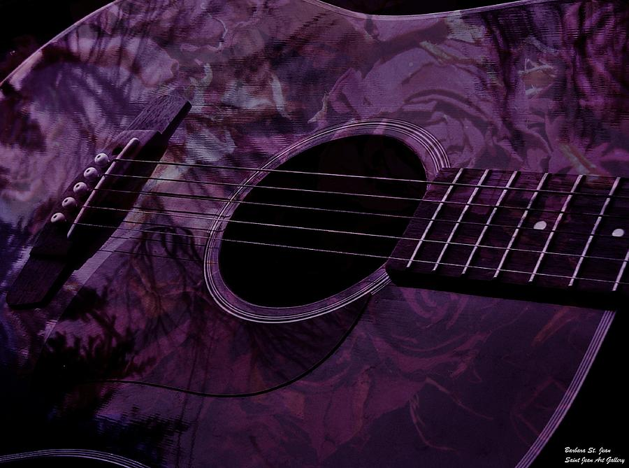Guitar Photograph - Music Of The Roses by Barbara St Jean