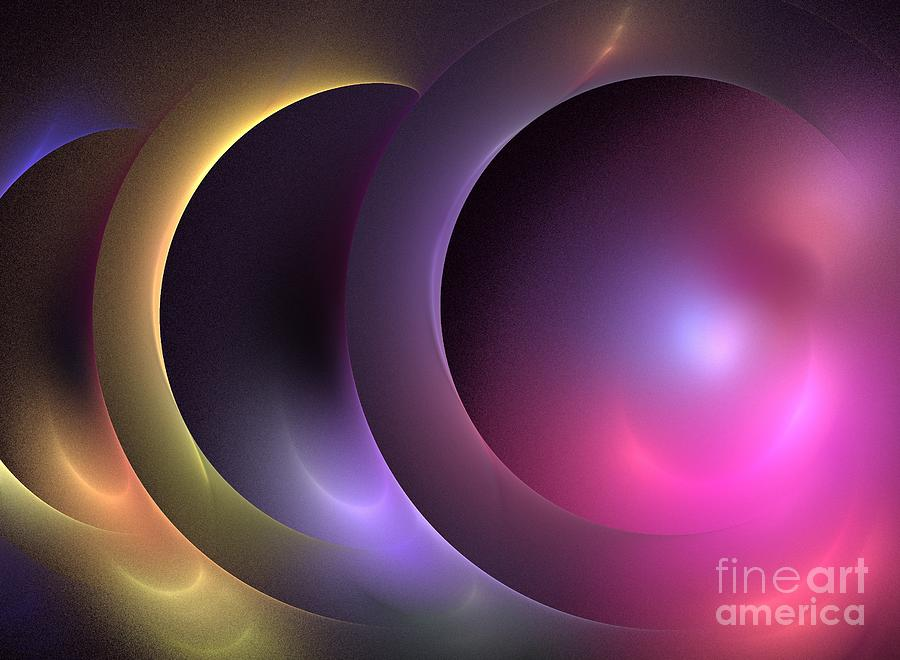 Apophysis Digital Art - Music Of The Spheres by Kim Sy Ok